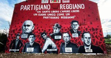 """""""Partigiano reggiano"""", un enorme murale per ricordare i martiri della Resistenza"""